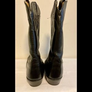 Tony Lama Shoes - Black leather Tony Lama boots mens 13.5 B